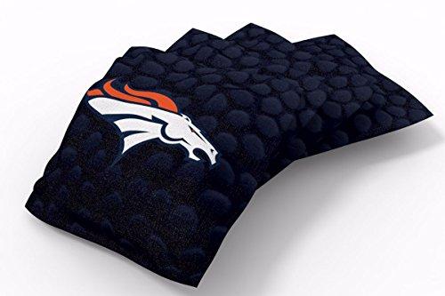 PROLINE 6x6 NFL Denver Broncos Cornhole Bean Bags - Pigskin Design (A) ()
