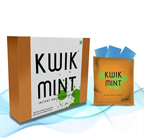 KwikMint - Sugar Free Cool Mint Mouth Freshener Oral Care Breath Strips - Pack of 1 (88 Strips) (B077PQYS5X) Amazon Price History, Amazon Price Tracker