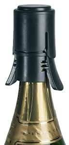 Screwpull Champagne Stopper, Black