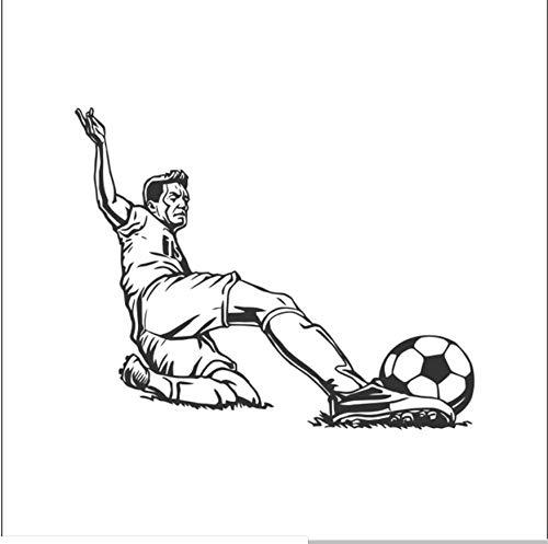 wsydd Football Goalkeeper Player Sticker Sports Football car Sticker Helmets Room Name 58X71cm ()