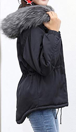 Parka Pelliccia Cappotti Giacche Caldi Incappucciati Nera Ttyllmao Di Faux Donne Outwear 7qwX6SPz