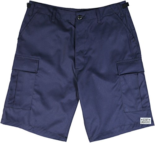 Army Universe Navy Blue Military BDU Cargo Shorts With Pin Size Large (Waist - Short Blue Cut Off
