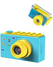 ShinePick Fotoapparat Kinder, 8MP HD1080P 2 Inch Bildschirm Zoom Foto & Video Digitalkamera mit Speicherkarte, DIY Aufkleber, Silikonhülle Videokamera Xmas Geburtstag Geschenke für Kinde