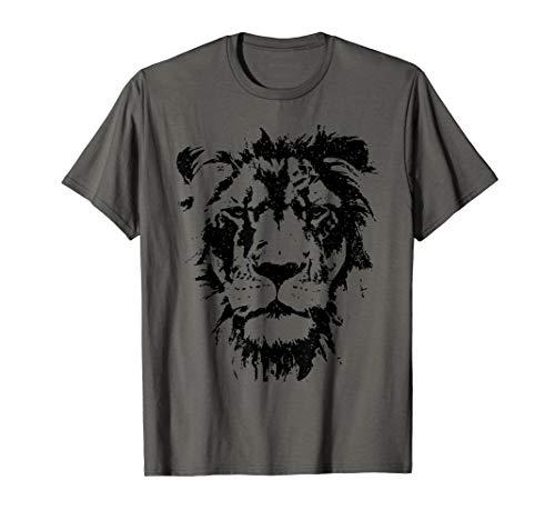 Lion Face T Shirt. Cool Zoo Animals T-Shirt Zoo Keeper