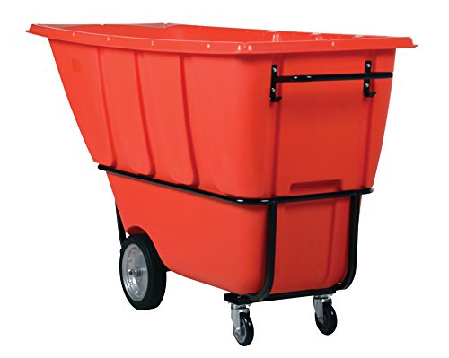 Vestil TDT-100-HD-RED Heavy Duty Tilt Truck, 1 cu. yd, Red - 1 Cu Yd Tilt Truck