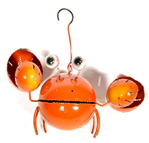Beautiful Unique SEA Ocean Crab Candle Holder Metal Tropical Island Hanging Art