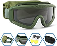 XAegis Airsoft Goggles Tactical Safety Goggles Anti Fog Glasses Hunting Cycling