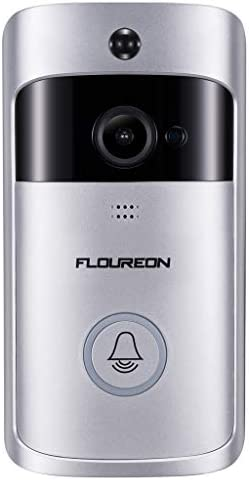 FLOUREON Smart WiFi Doorbell, 720P HD Video Doorbell Camera with PIR Motion Detection, Night Vision, 2-Way Audio Talk, Cloud Storage, SD Card Slot