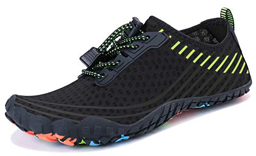 Shoes Mens Athletic Swim - Mens Womens Water Sports Shoes Quick-Dry Lightweight Barefoot Wide Feet Toe Solid Drainage Sole for Swim Diving Surf Aqua Pool Beach Jogging Trip