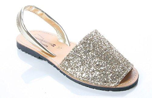 Mojoshu - Zapatos con tacón mujer dorado