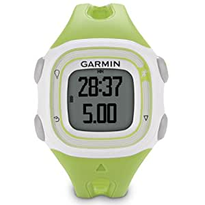 New Garmin Forerunner 10 GPS Sport Running Watch with Virtual Pacer (White/Green)-Non Retail Package