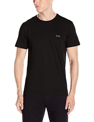 Hugo Boss BOSS Men's Modern Fit Basic Single Jersey T-Shirt, Black, -