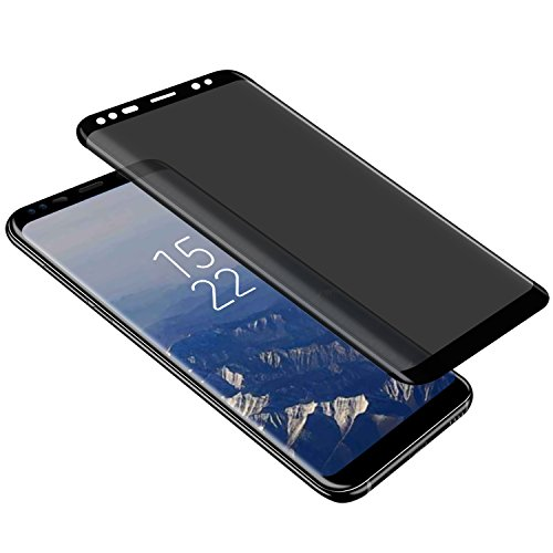 Galaxy S8 Privacy Screen Protector  Top Glass S8 Premium  3D Curved   Case Friendly   Anti Scratch  9H Hardness Tempered Glass Film Screen Protector For Samsung Galaxy S8  Black