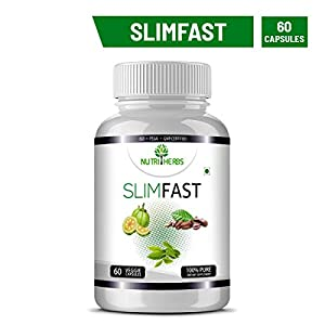 Nutriherbs Slimfast Garcinia Cambogia, Green Coffee , Green Tea Combo – 60 Capsules Weight Loss (Pack Of 1)