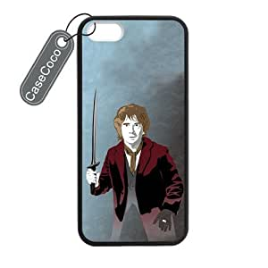 CASECOCO(TM) The Hobbit iPhone 5 5s Case- Protective Hard Back / Black Rubber Sides Case for iPhone 5 5s
