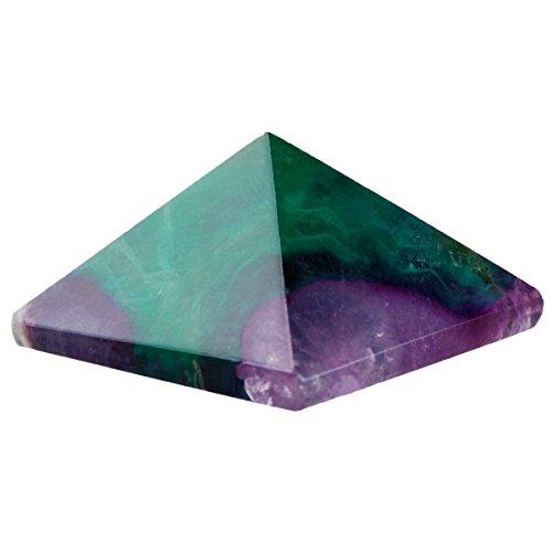 - rockcloud Healing Crystal Flourite Pyramid Metaphysical Stone Figurine