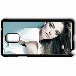 Personalized Samsung Note 4 Cell phone Case/Cover Skin Amanda Seyfried Wallpaper Celebrities Black