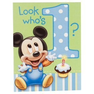 Mickey Mouse 1st Birthday Invitations with Envelopes 8ct (Mickey Mouse 1st Birthday Invitations)