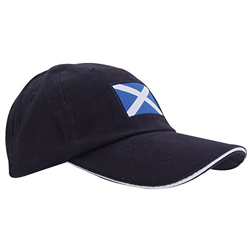 - ProClimate Mens Scotland Navy Embroidered Baseball Cap (23in) (Navy)