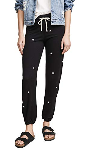 (SUNDRY Women's Little Stars Classic Sweatpants, Black, 0)