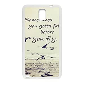 sometimes you gotta fall before you fly Phone Case for Samsung Galaxy Note3 Case
