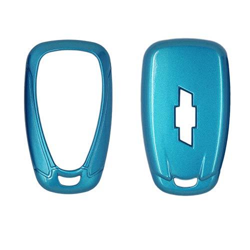 SEGADEN Paint Metallic Color Shell Cover Hard Case Holder fit for CHEVROLET Smart Remote Key Fob 2 3 4 5 6 Button SV0654 Blue ()