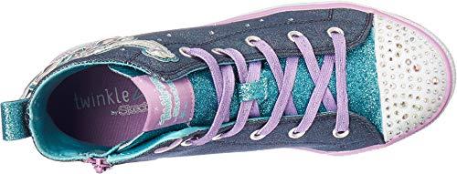Skechers Kids Girls' Twinkle Lite-Magnificent Merm Sneaker, Denim/Multi, 4 Medium US Big Kid by Skechers (Image #1)