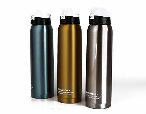 Price comparison product image 1.0L travel mug thermos bottles pot outdoor kettle termos coffee thermo bottle stainless steel 18 / 10 thermal insulated cup golden 1000ml