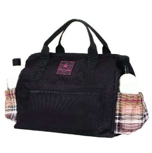 Kensington KPP All Around Zippered Show Tote, Deluxe Black Plaid, One Size - Equestrian Travel Tote Bag