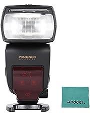 Yongnuo YN685 i-TTL HSS 1 / 8000s GN60 2.4G Wireless Flash Speedlite Speedlight per Nikon D750 D810 D7200 D610 D7000 D5500 D5200 D5300 D3300 D3200 DSLR Con Andoer panno di pulizia