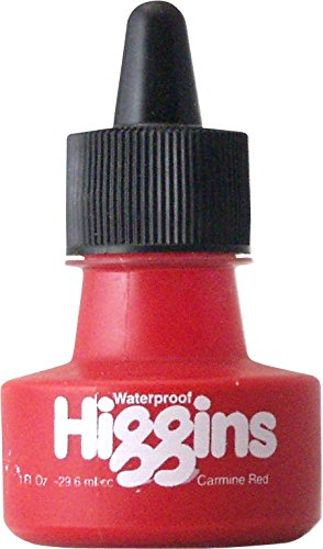 - Higgins Dye-Based Drawing Ink, Carmine Red, 1 Ounce Bottle (44105)