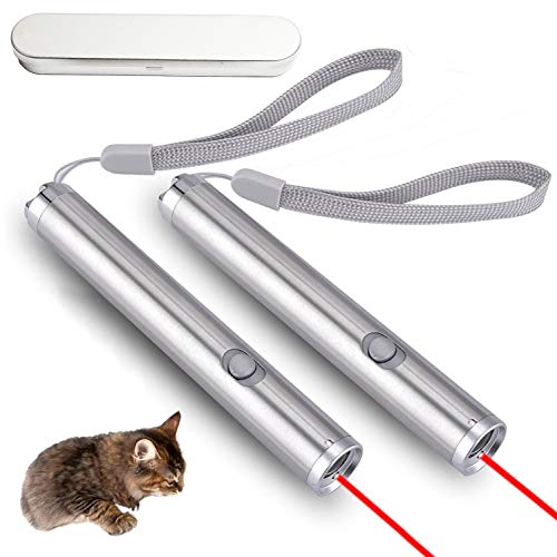 (Cat Chaser Toy, the LED Light Pet Cat Interactive Exercise Toys Training Tool (2 packs) By PLRB)