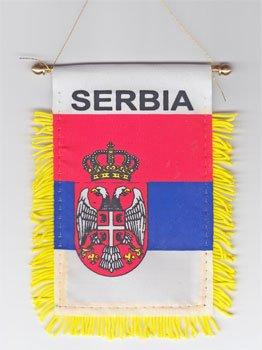 Serbia - Window Hanging Flag