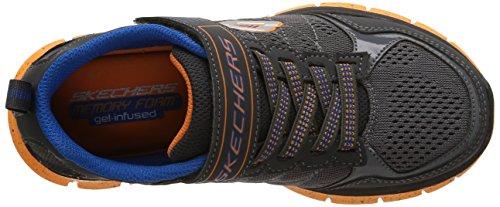 Skechers Synergy - Power Flex - Zapatillas de deporte para niños, color gris, talla 28