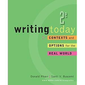 Writing Today Donald Pharr and Santi Buscemi