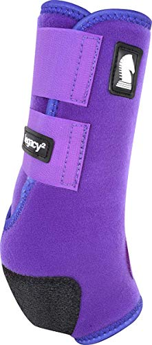 Classic Equine Legacy2 System Hind Boot (Solid), Purple, Medium