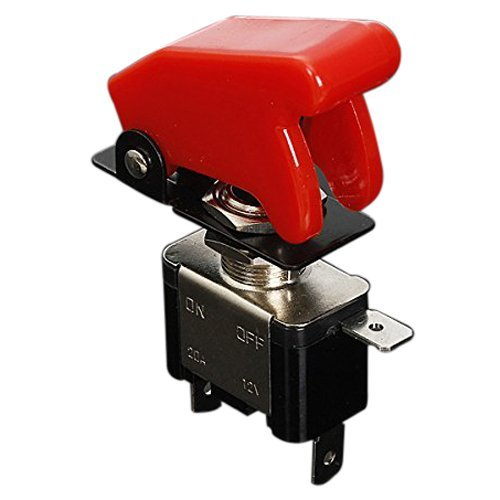 Rocker Switch - SODIAL(R)12V 20A Inverter Rocker Switch Lever On / Off LED ON-OFF SPST + COVER Auto Car-Dark red 037857A7