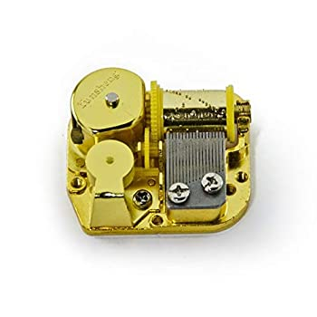 18 Note Mechanical Movement Music Box Component with Winding Key