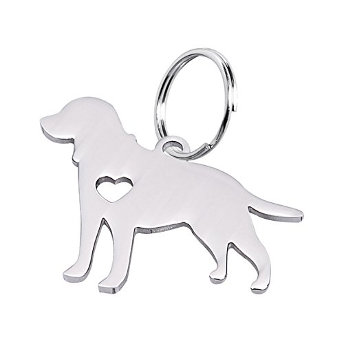 Lab Dog Pendant - Housweety 1pc Stainless Steel Labrador Dog Pendant 29x25mm