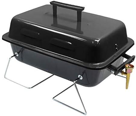 BillyOh Parrilla portátil para barbacoa de gas para camping al aire libre, negro
