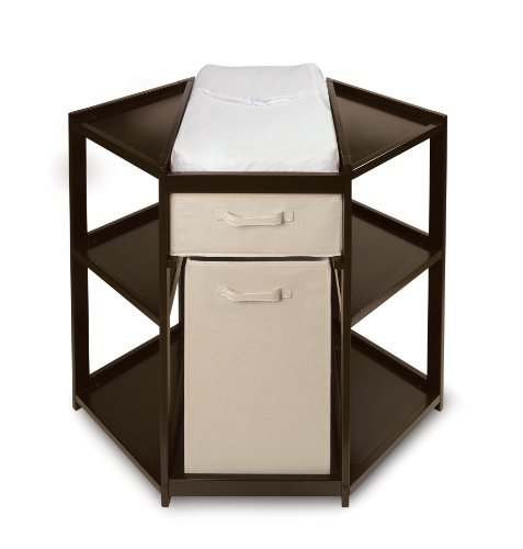 Diaper Corner Baby Changing Table With Pad Hamper And Basket
