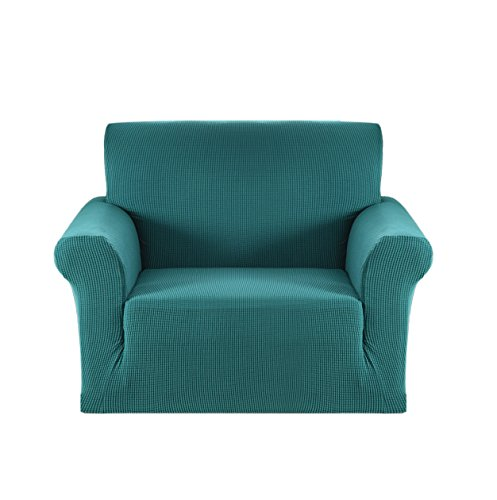 - Argstar Jacquard Armchair Cover Soft Elastic Cyan