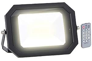 Luminea Jardín de iluminación: impermeable LED de Foco, de radar sensor de movimiento, mando a distancia, lámpara de 60W (exterior automático)
