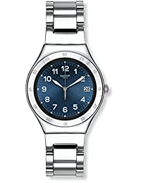SWATCH UNISEX STEEL BRACELET & CASE SWISS QUARTZ BLUE DIAL WATCH YGS474G
