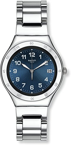 Swatch Blue Pool Blue Dial Stainless Steel Men's Watch YGS474G by Swatch