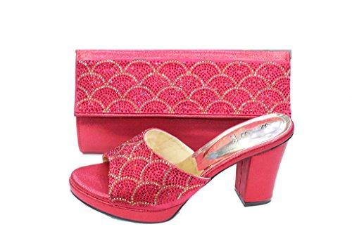Bloc Confort Un Sandale Walk Sac Chaussures amp; Mariage 2032 W SAN et Chaussures Bordeaux Assorti Talon W L'usure Britannique Diamante Femmes Fête de et Soir PZwH7qwO