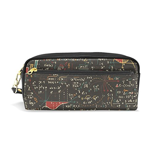 Pencil Case Math Formula Geometric Figure Large Capacity Pen Bag Stationery Pouch Stationary Case Makeup Cosmetic -