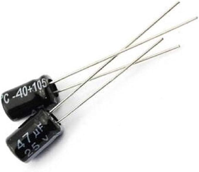 50pcs NEW 47uF 25V 105°C Radial Electrolytic Capacitor 5x7mm NEW