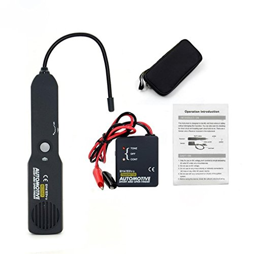 VECANCE Universal Automotive Cable Wire Tracer Diagnose Tone Line Short & Open Circuit Finder Tester - DC 6-42V Car Repair Diagnostic Detector Tool Set by VECANCE