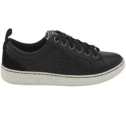 Zwarte Hard Leer Van Earth Womens Zag Sneaker
